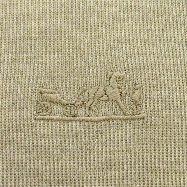 エルメス 長袖ニット ハイネック 刺繍入りロングスリーブニット カシミヤ シルク レディースサイズ36 HERMES 服 トップス