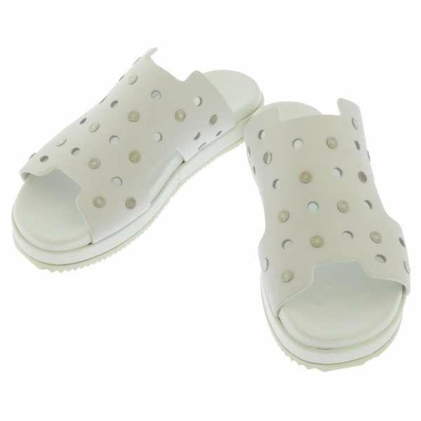エルメス サンダル クルードセル レディースサイズ37 ホワイト HERMES 靴 白