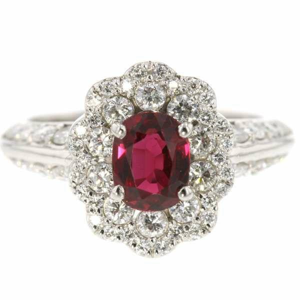 ルビー リング ルビー 1.16ct ダイヤモンド 0.89ct プラチナ900 Pt900 サイズ12号 ジュエリー 指輪