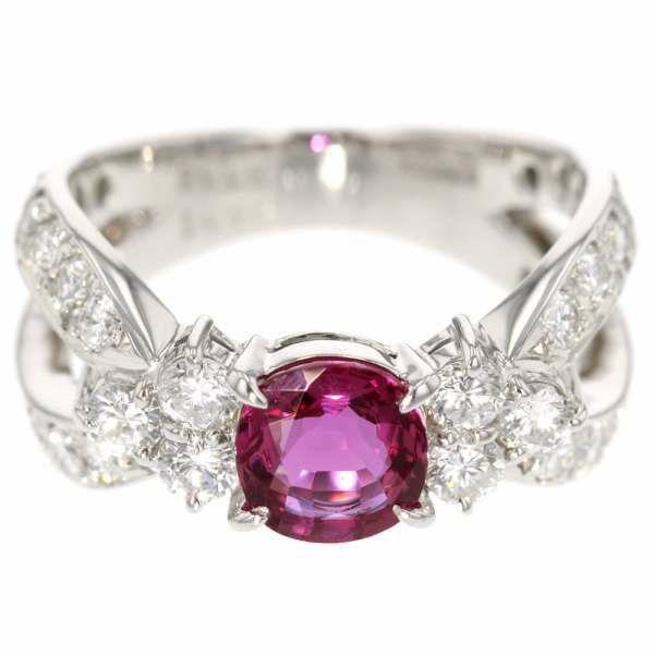 ルビー リング ダイヤモンド 1.17ct 非加熱ルビー 1.15ct プラチナ900 Pt900 リングサイズ12.5号 ジュエリー 指輪