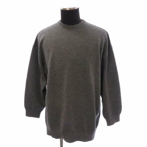 バレンシアガ セーター バックロゴ 刺? グレー サイズS 583136 BALENCIAGA カシミヤ100% ドロップショルダー ユニセックス