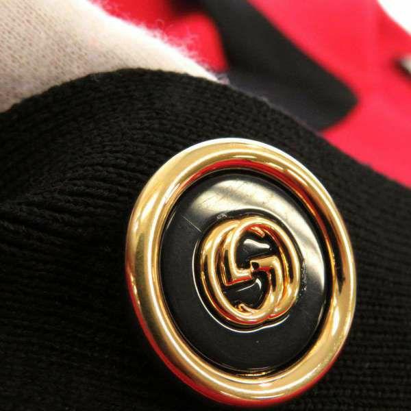 グッチ カーディガン GG 碇モチーフ シルク レディースサイズS 572646 GUCCI 服 アパレル 赤 黒