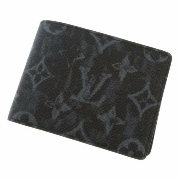 ルイヴィトン 財布 モノグラム・パステル ポルトフォイユ・ミュルティプル M80017 LOUIS VUITTON 財布 札入れ 二つ折り財布 メンズ 黒