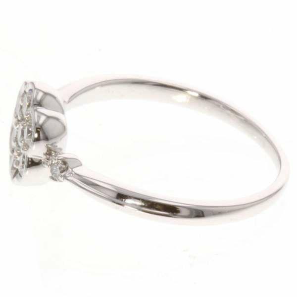 ダイヤモンド リング ダイヤ計0.40ct K18WGホワイトゴールド フラワーモチーフ サイズ15号 ジュエリー 指輪 アクセサリー