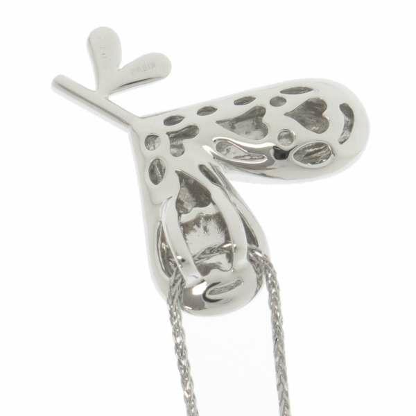 ダイヤモンド ネックレス ハートモチーフ ダイヤ0.10ct K18WGホワイトゴールド ジュエリー ペンダント