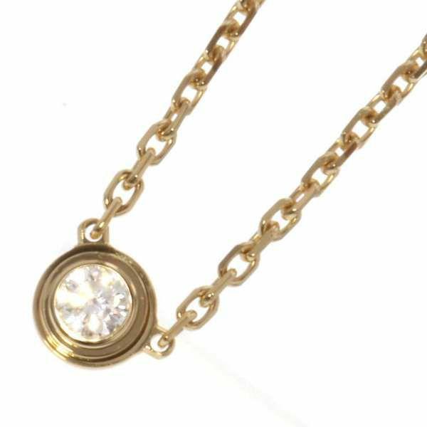 カルティエ ネックレス ディアマン レジェ ダイヤモンド0.04ct K18YGイエローゴールド  B7224517 Cartier ジュエリー ペンダント アクセサリー