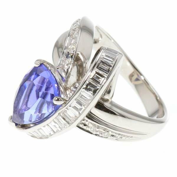 タンザナイト リング タンザナイト3.59ct ダイヤモンド0.62ct Pt900 プラチナ900 リングサイズ11号 ジュエリー 指輪