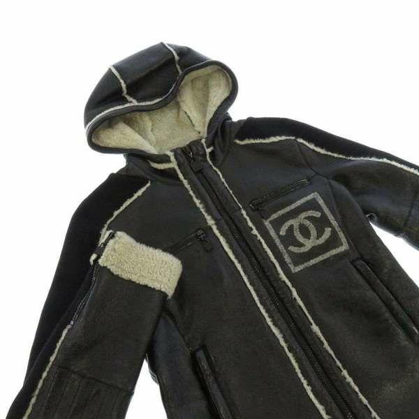 シャネル ブルゾン スポーツライン ラムスキン ムートン レディースサイズ36 P33734 08A CHANEL アウター 黒