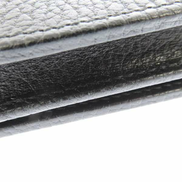 グッチ 二つ折り財布 プチ マーモント 456126 GUCCI 財布 カードケース ブラック 黒